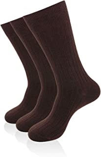 SEMOHOLLI Mens Black High Ankle 80% Cotton Socks, Athletic, Ribbed Crew Socks