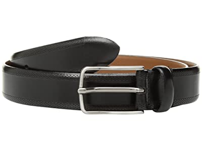Johnston & Murphy Edge Perf Embossed (Black) Men