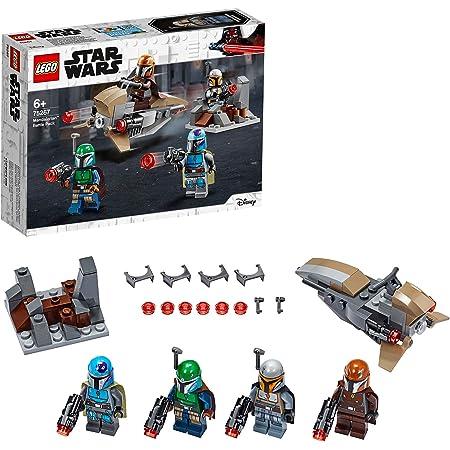 LEGO 75267 StarWars CoffretdeBatailleMandalorien, Set avec 4 Figurines, Speeder Bike et Mini-Fort