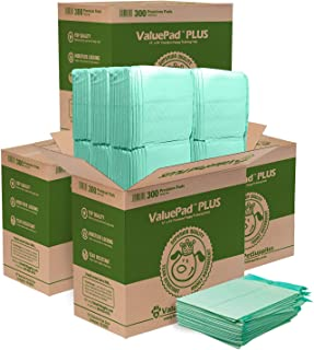 ValuePad Plus Puppy Pads, Small 17x24 Inch, 1200 Count - Premium Pee Pads for Dogs, Tear Resistant, Super Absorbent Polymer Gel Core, Leak-Proof 5-Layer Design