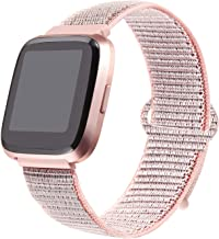 bayite Soft Bands Compatible with Fitbit Versa/Versa 2 Women Men, Breathable Sport Loop Band Replacement Accessories Wristband, 5.5''- 8.1''