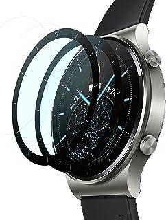 GIOPUEY [2 Pack] Skärmskydd Kompatibelt med Realme Watch 2 Pro, [Full Täckning]Ultratunn HD-Kompositskyddsfilm, Reptålig, ...