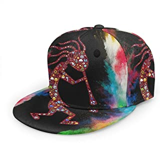 Free-cap2 Kokopelli Trickster Symbol Baseball Cap 3D Print Snapback Unisex Adjustable Hip Hop Dad Hat Casual Team Black