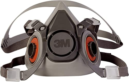 3M Half Facepiece Reusable Respirator 6200, Gases, Vapors, Dust, Paint, Cleaning, Grinding, Sawing, Sanding, Welding,...