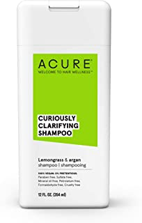 ACURE Curiously Clarifying Shampoo - Lemongrass & Argan | 100% Vegan | Performance Driven Hair Care | Gently Cleanses, Removes Buildup, Boost Shine & Replenishes Moisture | 12 Fl Oz