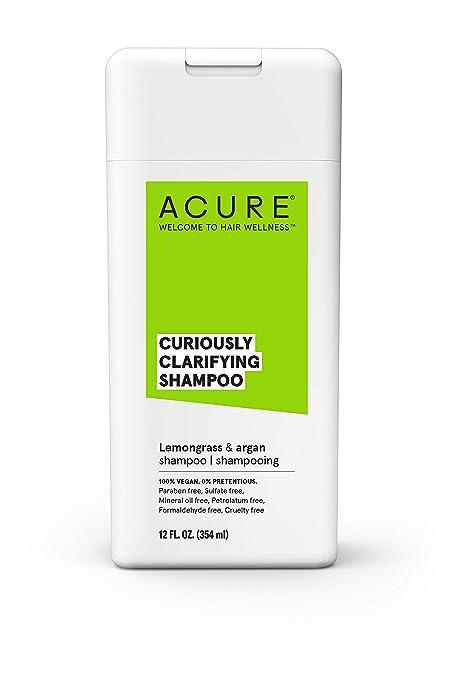 Acure Curiously Clarifying Shampoo With Lemongrass & Argan, 12 Oz