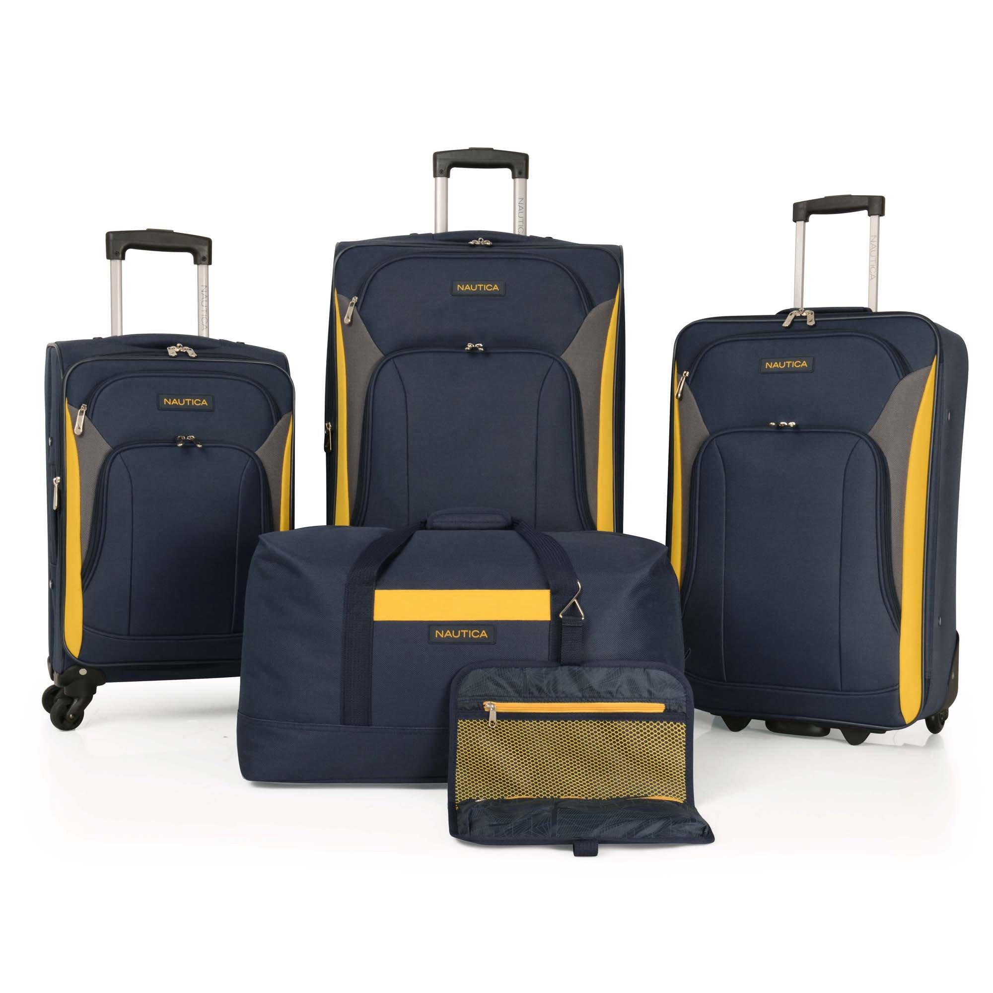 Nautica Open Piece Luggage yellow