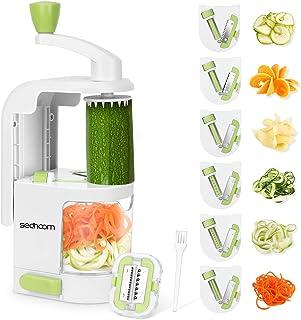 Sedhoom Spiraliseur de légumes avec 6 Lames, Coupe Legumes Multifonctions à Spaghettis de légumes, Coupe Legumes Spaghetti...
