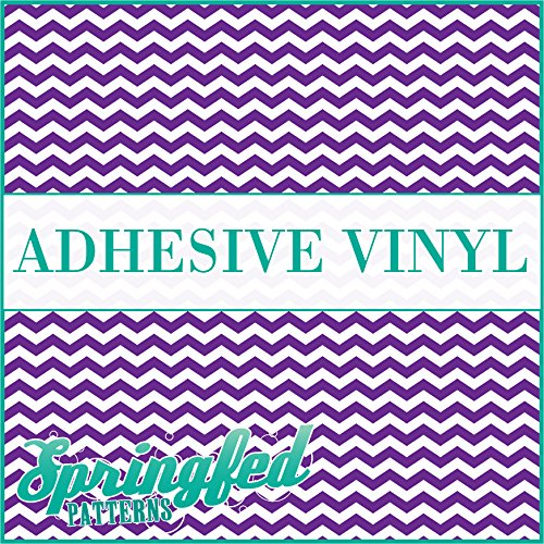 CHEVRON STRIPES PATTERN #1 Purple & White Craft Vinyl 3 sheets 6x6 Chevron for Vinyl Cutters