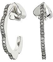 Kate Spade New York - Slender Scallops Mini Pave Hoops Earrings