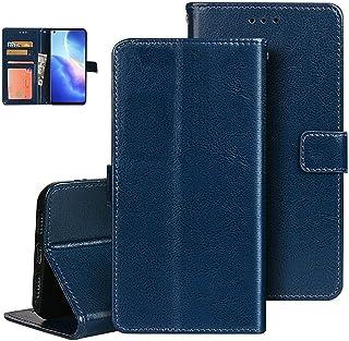 XKFM1 etui do Apple iPhone 12 Pro Max etui na telefon skóra PU + TPU miękki silikonowy pokrowiec niebieski