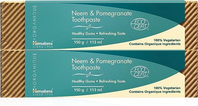 330 opinioni per Neem & Pomegranate Toothpaste | Dentifricio senza fluoro | Prodotto Vegetariano