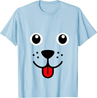 Funny Pet Animal Dog Puppy Happy Emoticon Face T-Shirt Gift