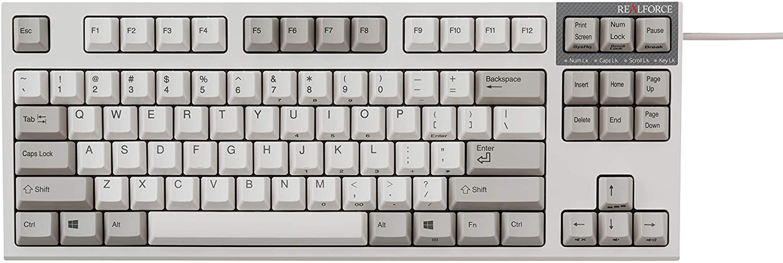 Realforce R2 PFU Limited Edition TKL Ivory Topre Keyboard