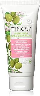 Timely, crema mani nutriente e idratante con olio di oliva, confezione da 4 x 100 ml
