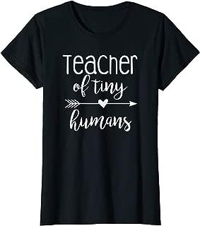 Womens Teacher of Tiny Humans Kindergarten T-Shirt