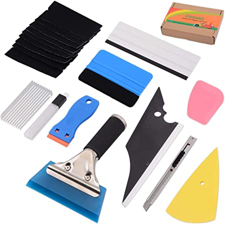 Eco Car Wrap Vinyl Tools Bag Kit Squeegee Felt Scraper Wrapping Decals Gasket US