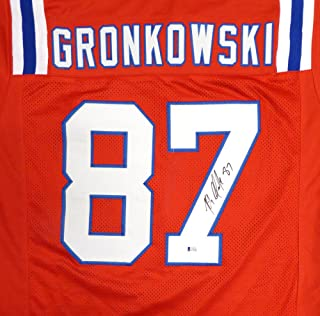 New England Patriots Rob Gronkowski Autographed Red Jersey Beckett BAS