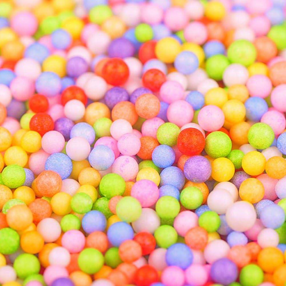 mat/ériel DIY rembourrage pour Slime 7-9mm Color/é M Craft mousse particules dosige Billes de mousse