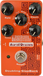 Aural Dream Doubling Slapback Guitar pedal with 4 modes and 6 waves reaching 24 effects true bypass