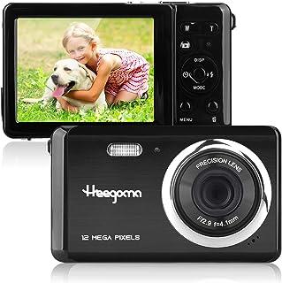 コンパクトデジタルカメラ、Heegomn2.8インチTFTLCD12MP充電式デジタルカメラポータブルカメラポケットカメラ学生用カメラミニカメラ子供用-誕生日/クリスマスギフト