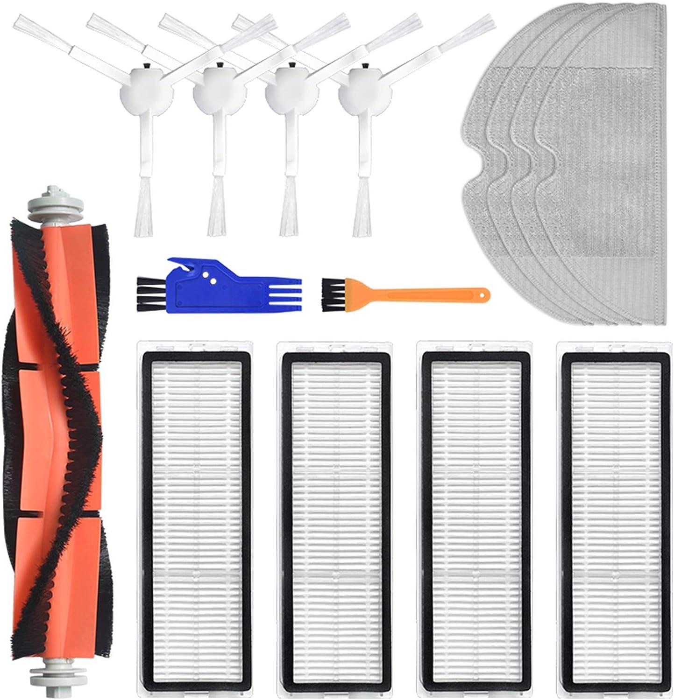 Juego de accesorios de repuesto para aspiradora XiaoMi Mijia 1C 1 cepillo principal 4 cepillos laterales 4 filtros HEPA
