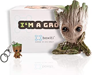 Boxiti Groot Pen Holders - Baby Groot Planter Ideal Gift - Guardian The Galaxy Pen Holders - Groot Flowerpot Baby Model Toy Comes Free Groot Key Ring (Model 1)