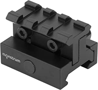 Monstrum Lockdown Series Adjustable Height Picatinny Riser Mount | 1.75 inch