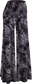 Women's Solid/Tie-Dye Casual Comfy Wide Leg Palazzo...