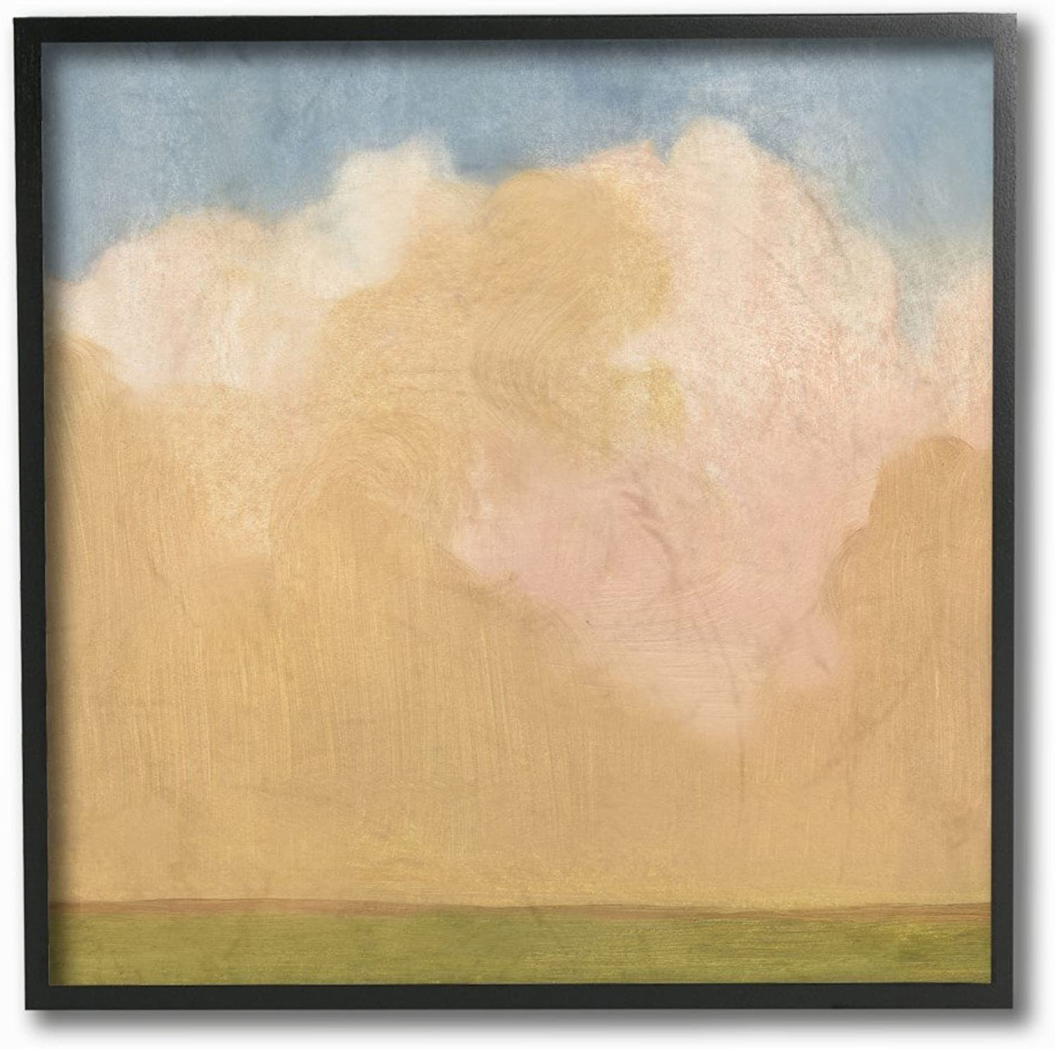The Stupell Home Decor Collection Painted Fields Clouds Farm Framed Giclee Texturized Art, 12 x 12, Multicolor