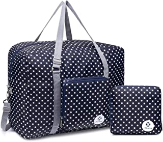 For Airlines Foldable Travel Duffel Bag Tote Carry on Luggage Sport Duffle Weekender Overnight for Women and Girls