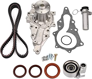 AUCERAMIC Timing Belt Kit with Water Pump and Tensioner for 1998-2005 LEXUS GS300 2001-2005 LEXUS IS300 3.0L (2jzge timing belt kit)