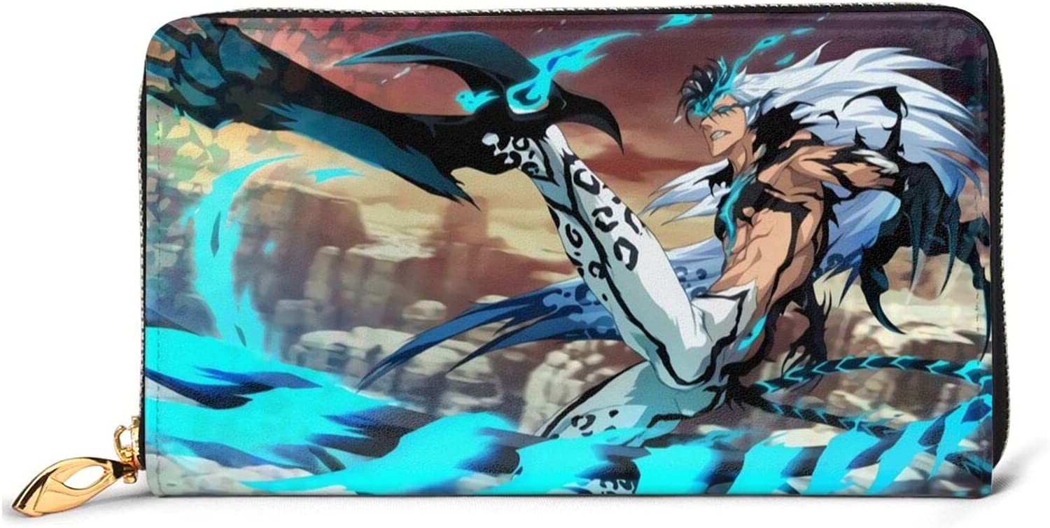 bleach Cheap mail order shopping A surprise price is realized Anime Grimmjow Jeagerjaques Leather coin purse wal zipper