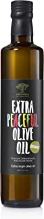 Organic Extra Virgin Olive Oil – Extra Peaceful Cold Pressed Mediterranean Olive Oil – Fair Trade, Non GMO, Kosher EVOO Cooking Oil – Top 100 Olive Oils in the World, 16.9oz