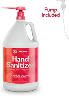 Hand Sanitizer Gel - 70% Alcohol Based - One Gallon Clean Scent Hygiene Gel for Home or commercial use 1 Gallon With Pump (128 oz) by PREDEXS
