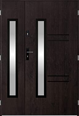 Avila Neo Duo - Double Glazed Front Door/Exterior Front Doors with sidelites (Wenge)