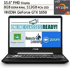 "ASUS TUF 15.6"" FHD Gaming Laptop Computer, Quad-Core AMD Ryzen 5-3550H, 8GB DDR4 RAM, 512GB PCIe SSD, NVIDIA GeForce GTX 1..."