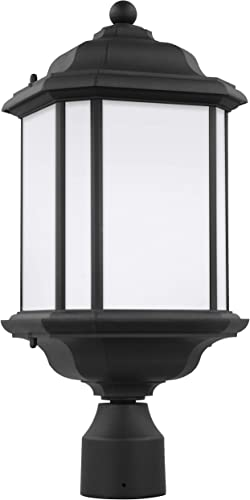 new arrival Sea Gull Lighting 2021 82529-12 Kent One-Light Outdoor Post Lantern Outside Lighting, outlet sale Black Finish sale