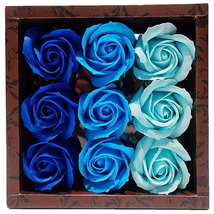 スクラップブック覚えている下着バスフレグランス バスフラワー ローズフレグランス ブルーカラー ギフト お花の形の入浴剤 ばら