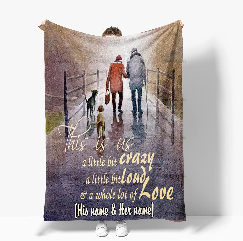 Personalized Couple Fishing Custom Name Full Ranking TOP16 Fleece Blanket Size Baltimore Mall