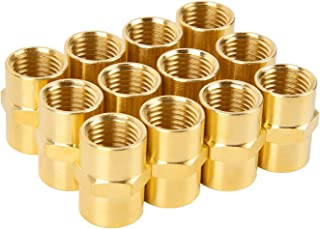 Air Hose Fittings, SUNGATOR Brass Pipe Fitting, Coupling 1/4