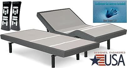 DynastyMattress S-Cape 2.0 Adjustable Beds Set Sleep System Leggett & Platt, With Luxury 12-Inch Gel Memory Foam Mattress (SPLIT-KING)