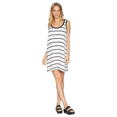 BB Dakota Vivanna Striped Knit Tank Dress (White) Women