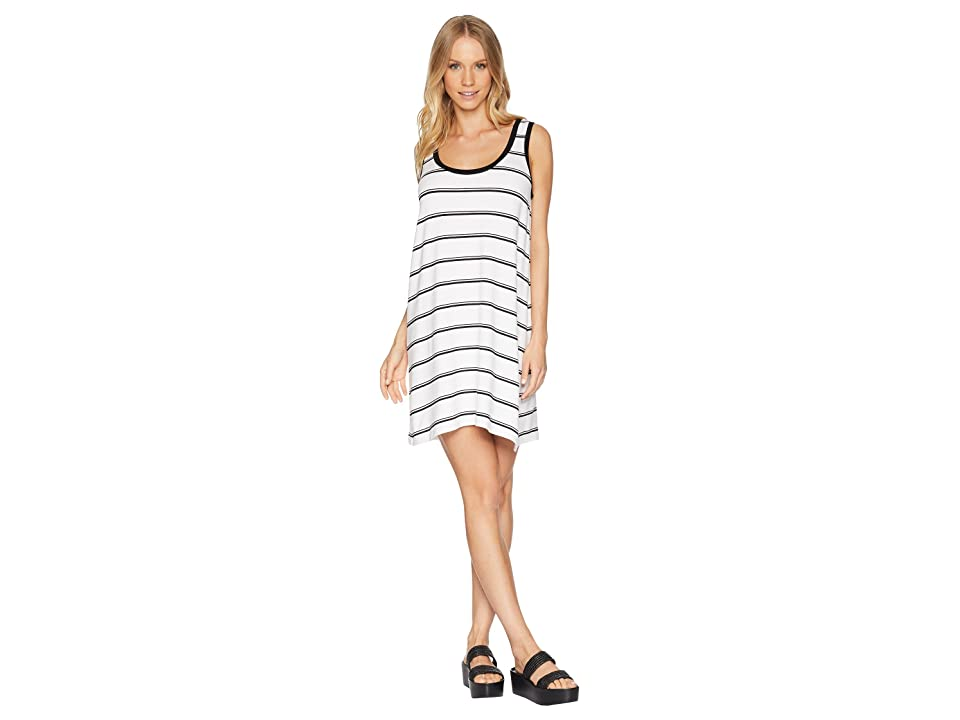 BB Dakota Vivanna Striped Knit Tank Dress (White) Women