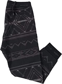 Ralph Lauren Men's Charcoal Arrowhead Sante FE Print Fleece Jogger Sweatpants
