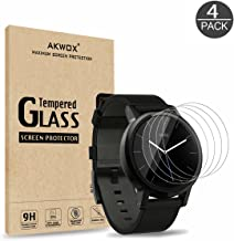 AKWOX (Pack of 4) Tempered Glass Screen Protector for Moto 360 42mm (2nd Gen), [0.3mm 2.5D High Definition 9H] Premium Clear Screen Protective Film for Moto 360 42mm (not for 46mm)