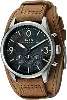 AVI-8 Men's AV-4024-08 Lancaster Bomber Analog Display Japanese Quartz Brown Watch