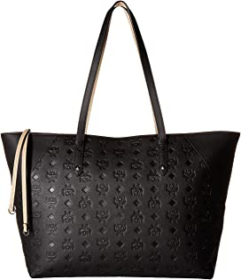 99ff6ccd5efa6 Klara Monogrammed Leather Charm Top Zip Shopper Medium