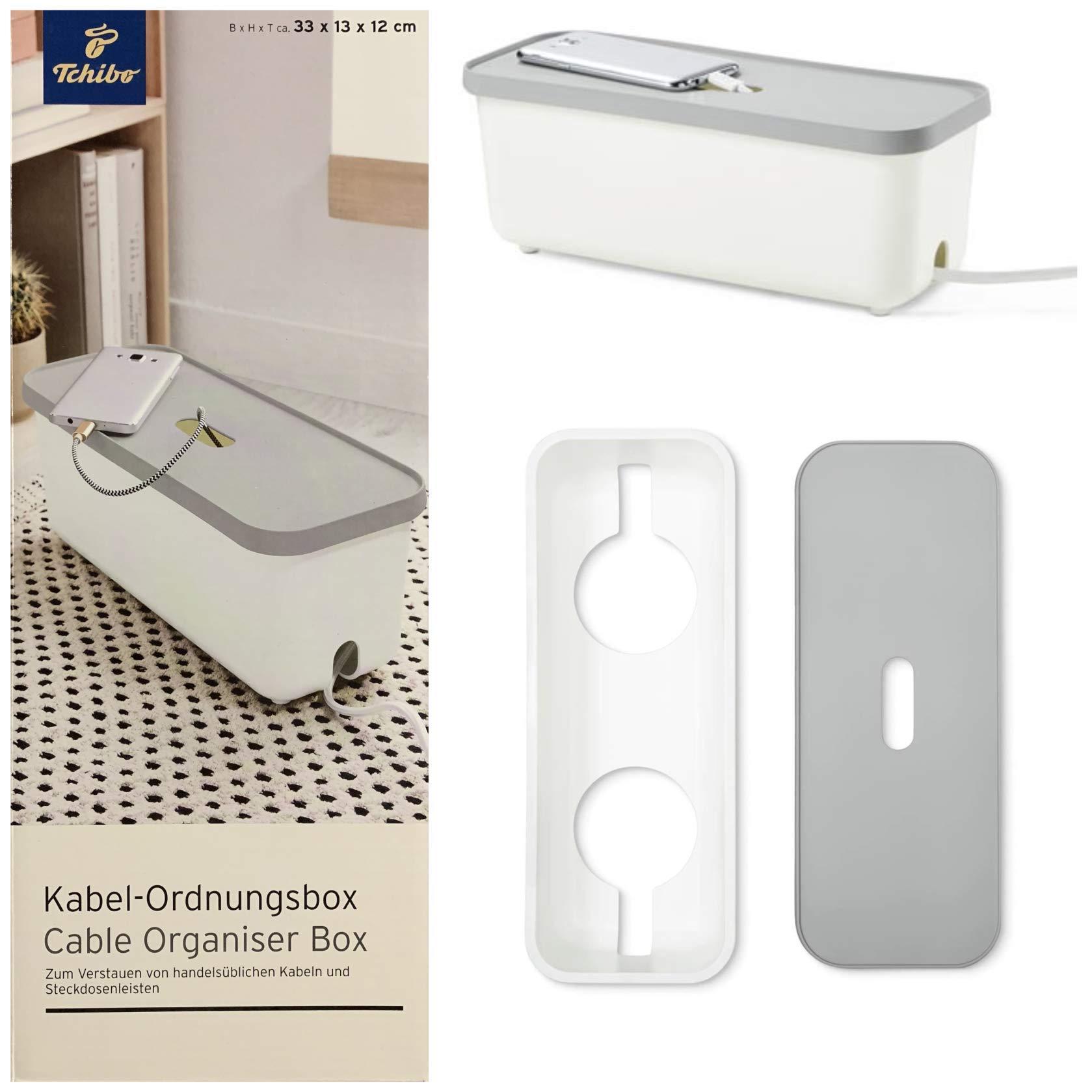 TCM Tchibo Cable ordnungs Box – Caja regleta enchufes Cajas Tamaño: Aprox. 33 x 13 x 11 cm: Amazon.es: Electrónica