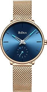 Mens Watches Ultra Thin Wrist Watches for Men Minimalist Waterproof Quartz Analog Stainless Steel Band Watch